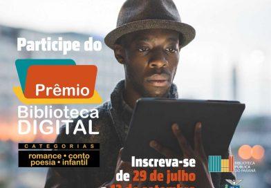 Prêmio Biblioteca Digital - Inscrições gratuitas
