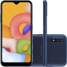 Samsung Galaxy A01 32GB 4G Tela 5.7 Octa-Core 2.0 GHz Câmera 13MP - Azul