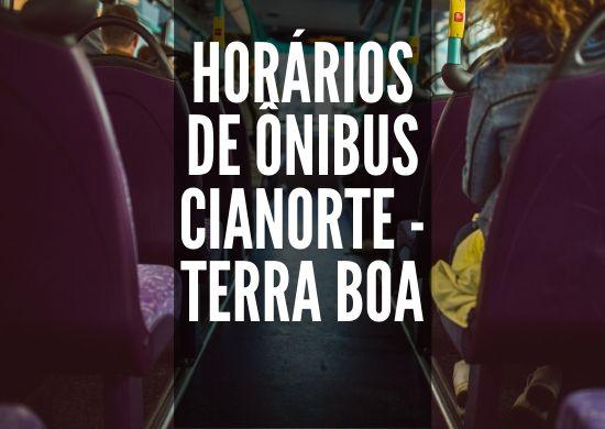Horário de ônibus - circular - terra-boa-cianorte